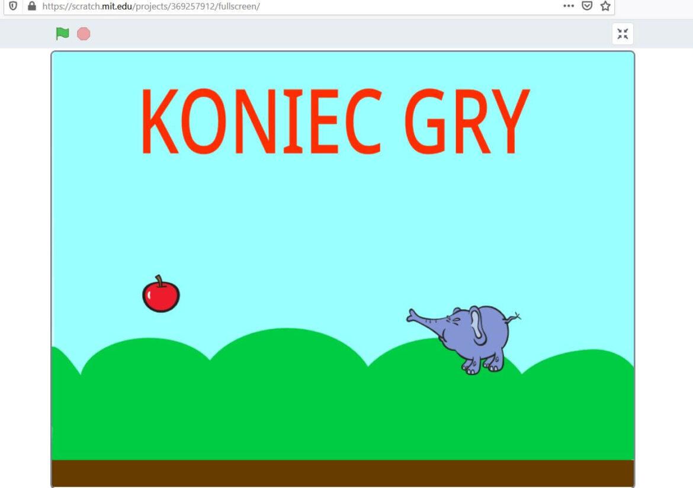 5. Budowa Gry Scratch – Latający słoń