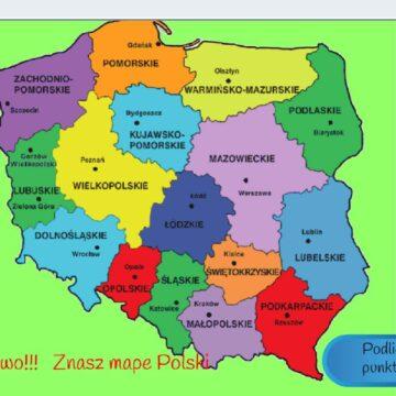 5. Gra – Interaktywna mapa Polski – miasta wojewódzkie