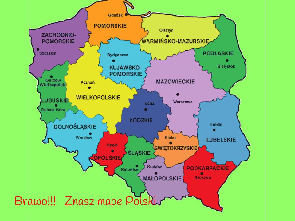 Mapa Polski zakończenie