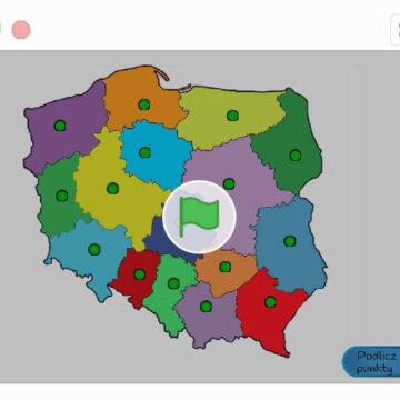 6. Gra – Interaktywna Mapa Polski – województwa
